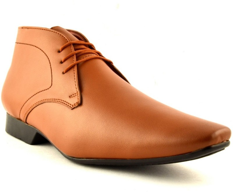 Zoot24 Ankle Tan Formal Shoes Lace Up(Tan)