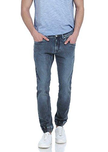 Basics Men's Skinny Jeans (8907054949434_15BJN33684_30W x 36L_Navy)
