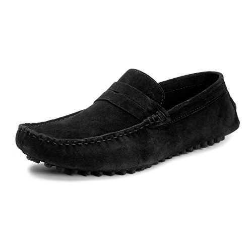 Bacca Bucci Men Black Suede Leather Loafers 11 Uk