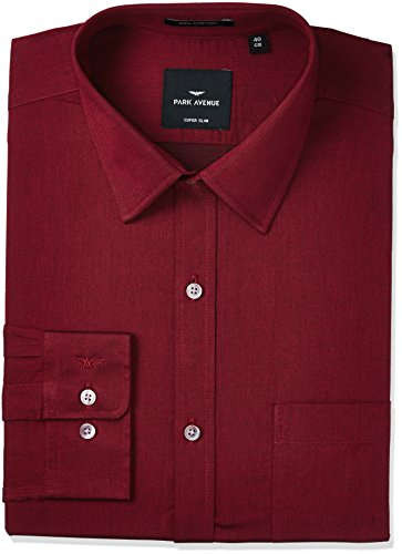 Park Avenue Men's Formal Shirt (8907663734773_PMSZ10504-M7_Dark Maroon_42)