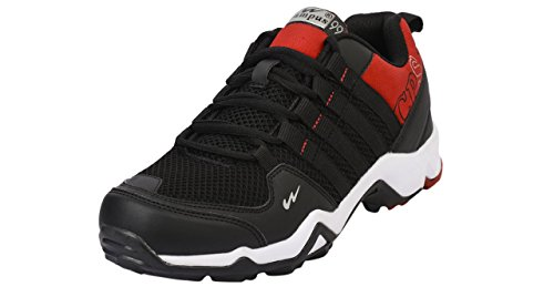 CAMPUS TRIGGEER Model, Black and Red Color Men Sports Running Shoes ( Size -11 UK )