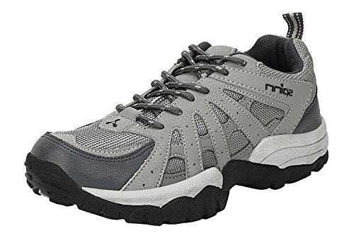 Spinn Men's Grey Synthetic Leather Track & Field Shoes (9 UK)