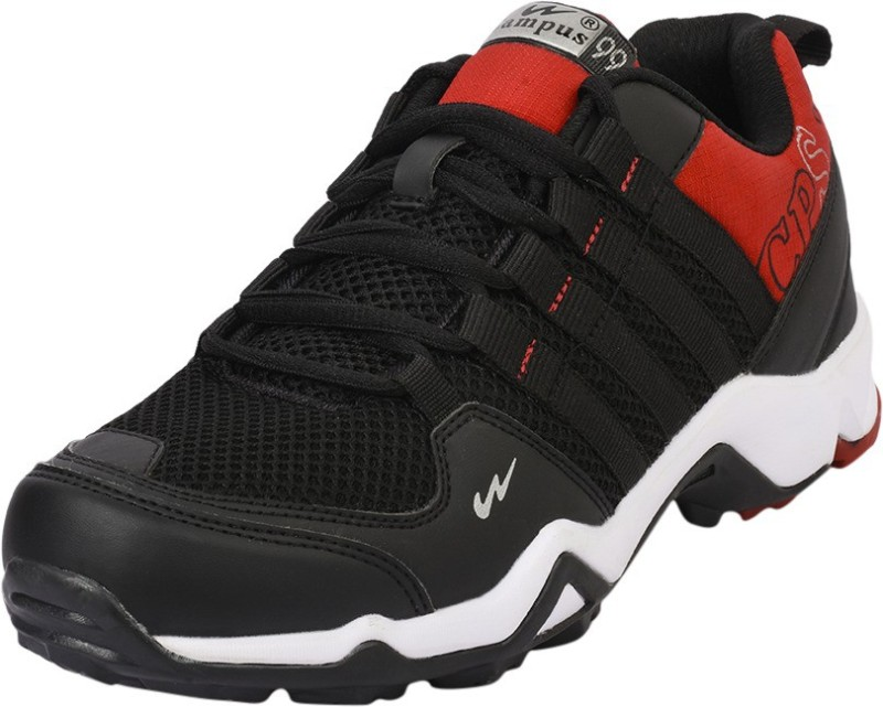 Campus Men Black Red Running Shoes(Black, Red)