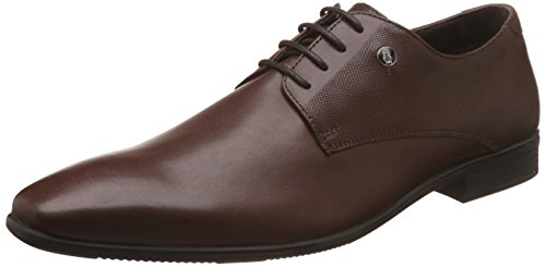 Hush Puppies Men's Cesar Derby Brown Leather Formal Shoes – 8 UK/India (42 EU)(8244820)