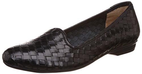 Naturalizer Women's Sandee Black Leather Ballet Flats – 5 UK/India (38 EU)(5546753)