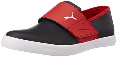 Puma Unisex's El Rey Milano II DP Black, High Risk Red and White Sneakers – 11 UK/India (46EU)