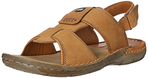 Red Chief Men's Rust Leather Sandals and Floaters – 6 UK/India (39 EU)(RC1358A)