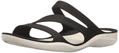 crocs swiftwater women sandal in black -