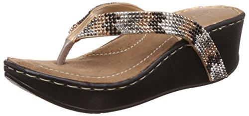 catwalk womens gold fashion sandals 4 ukindia 36 eu 7313xx -