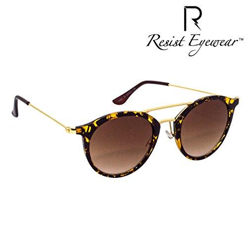 RESIST RE-EDISION-02 Unisex UV Protection Brown Metal Full Frame Round Sunglasses