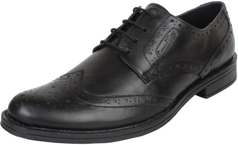 seeandwear mens brogue formal lace upblack -