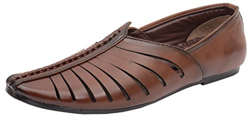 Kolapuri Centre Men's Brown Synthetic Juti – 9 UK
