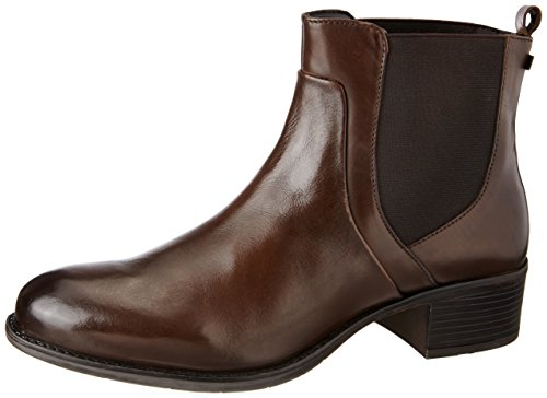 Hush Puppies Women's Carlita Ankle Brown Leather Boots – 5 UK/India (38 EU)(5043998)