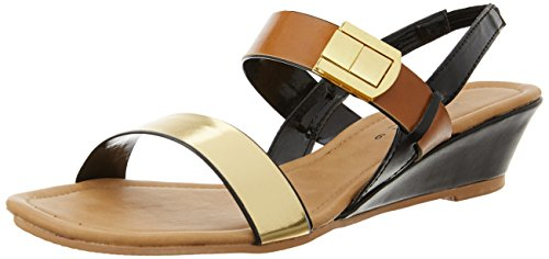 Footin Women's Tan Light Brown Fashion Sandals – 4 UK/India (37 EU)(6613392)