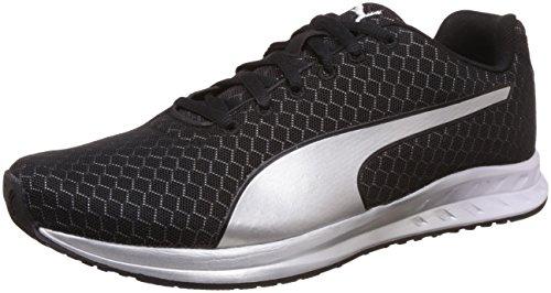 Puma Women's Burst Metal Wn's Puma Black and Puma Silver Running Shoes – 6 UK/India (39 EU)