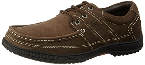 Lee Cooper Men's Brown Leather Boat Shoes – 6 UK/India (40 EU)