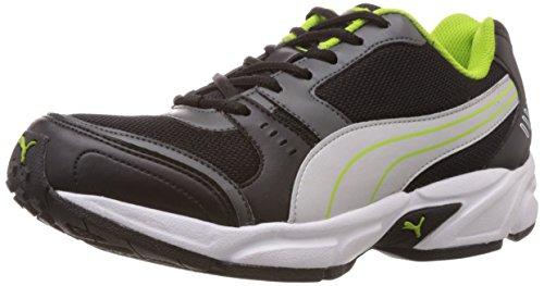 Puma Men's Argus DP Black, Dark shadow, Puma silver and Lime punch Mesh Running Shoes – 11 UK /India(46EU)