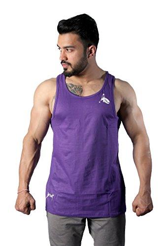 GreyWolf Arch Stringer Lavender Men's Vest For Sports / Gym (Muta_Lavender_Vest09) (Small)