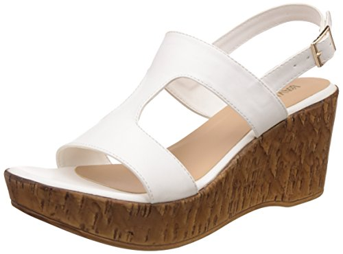 Lavie Women's 6920 Sling Back White Fashion Sandals – 6 UK/India (39 EU)