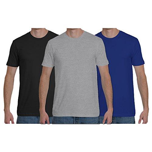 Peppymonk Men's Biowash Cotton Round Neck Half Sleeve T-shirts – Pack of 3