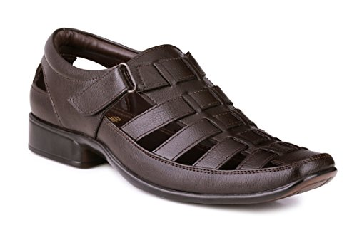 Mactree Men's Roman Brown Artificial Leather Sandals (5501brown_8)