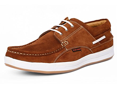 Red Chief Men's Rust Leather Boat Shoes – 10 UK/India (44.5 EU)(RC1363A)
