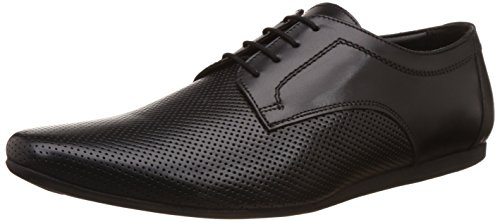Carlton London Men's Pablo Black Leather Formal Shoes – 10 UK/India (44 EU)