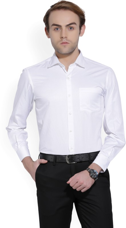 John Players Men Solid Formal White Shirt