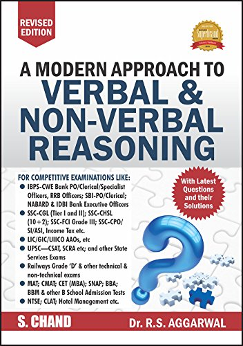 a modern approach to verbal non verbal reasoning rs aggarwal -