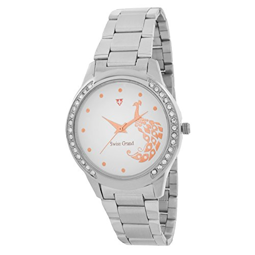 Swiss Grand SG12746 Silver Coloured With Silver Stainless Steel Strap Quartz Watch For Women