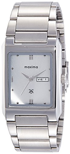Maxima Analog Silver Dial Men's Watch-22202CMGI