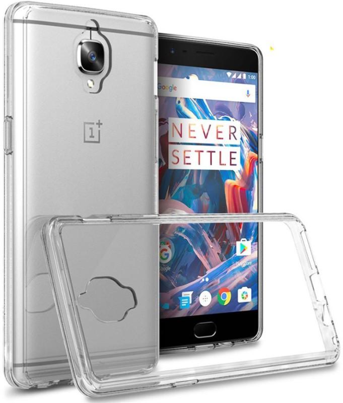 Taslar Back Cover for OnePlus 3, Oneplus 3T(Transparent, Rubber, Plastic)