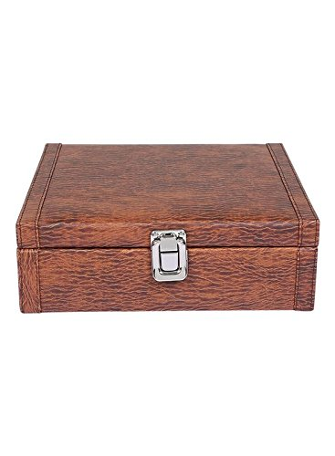 The Runner PU Leather Superior Quality Textured Finish Watch Box For 8 Watches