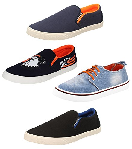 Chevit Men's Combo Pack of 4 Smart Casual Shoes and Sneakers (Loafers and Mocassins) QD-101+102+112+113-9