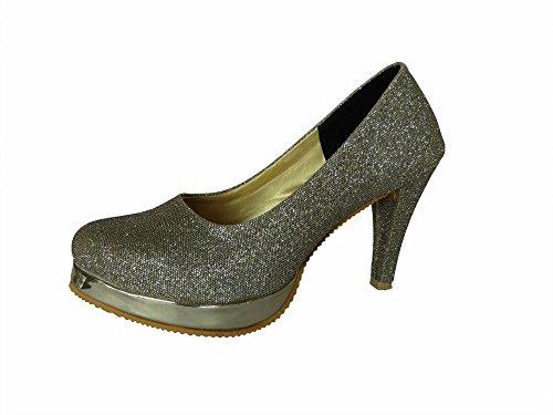 Metro Women's Silver Partywear Stylish Sandals-5
