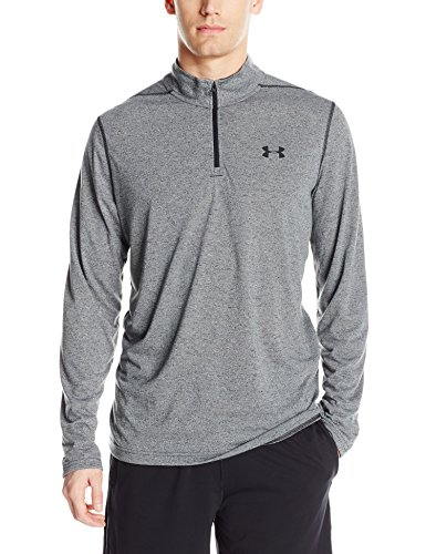 Under Armour Threadborne 1/4 Zip Men Half-Zip T-Shirt (1289600-002_XXL_Black and Black)