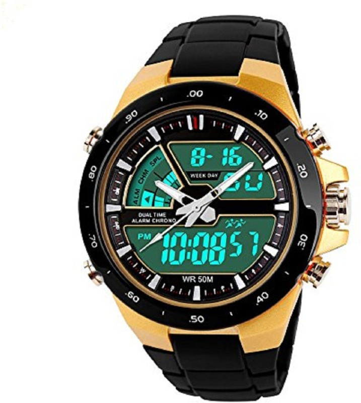 true colors look like a king with dual time led look watch for men -