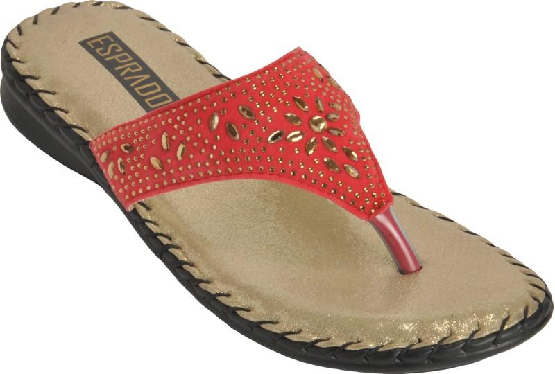 ESPRADO Women Red::Gold Flats