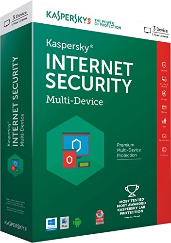 Kaspersky Internet Security Multi-Device – 3 Users, 1 Year (CD) (Chance to win Rs.1000 Amazon Gift voucher)