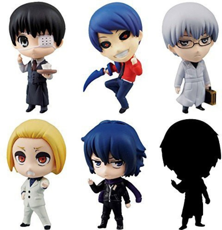 Aoshima Tokyo Ghoul SD Figure Swing Collection Vol.2 Set of 6(Multicolor)