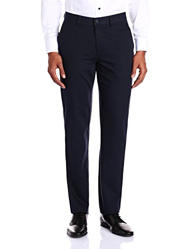 Peter England Men's Formal Trousers (8907306867165_PTF51503723_96_Dark Blue and Blue)