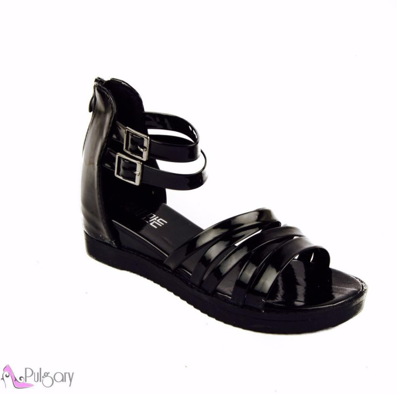 Pulgary Women Black Flats