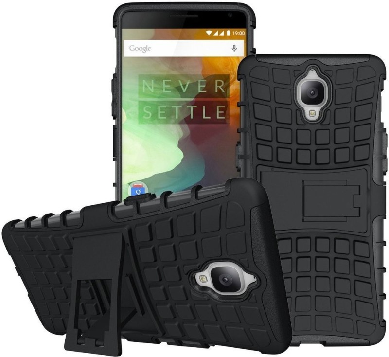Wellmart Back Cover for OnePlus 3(Black, Shock Proof, Rubber, Plastic)