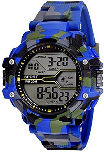 TOREK Blue Color Sporty Design Digital Boys,Men Watch-2030