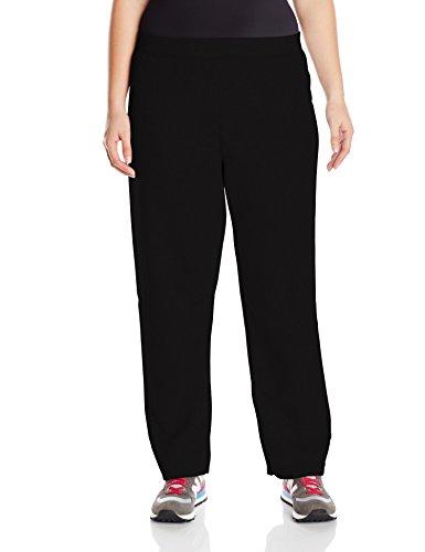 Just My Size Women's Plus-Size Fleece Sweatpant, Ebony, 3XL
