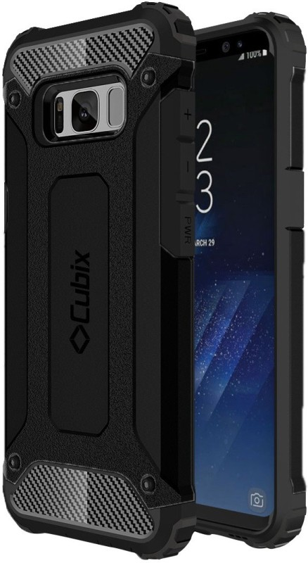 CUBIX Back Cover for Samsung Galaxy S8 PLUS(Black, Rubber, Plastic)
