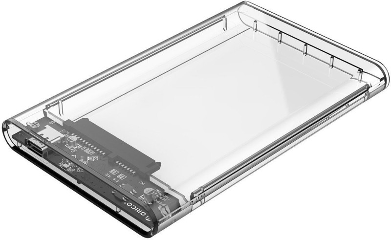 Orico Type C Transparent 2.5 inch SSD Sata Hard Disk external portable case cover USB3.0 to Type C 3.1 HDD Case Support 2 TB 2.5 inch 2.5 HDD / SSD Enclosure Upto 2 Tb. USB 3.0(For Windows, MAC OSX, Linux, Transparent)