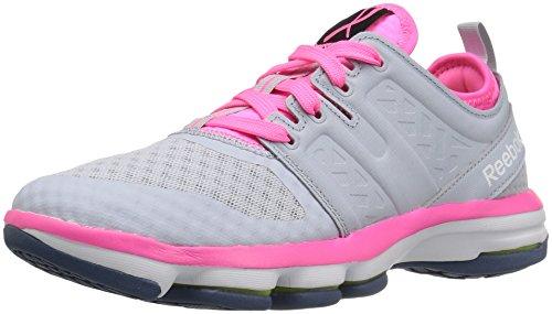 Reebok Women s Cloudride Dmx Walking Shoe Pr-cloud Grey/Poison Pink 5.5 B(M) US