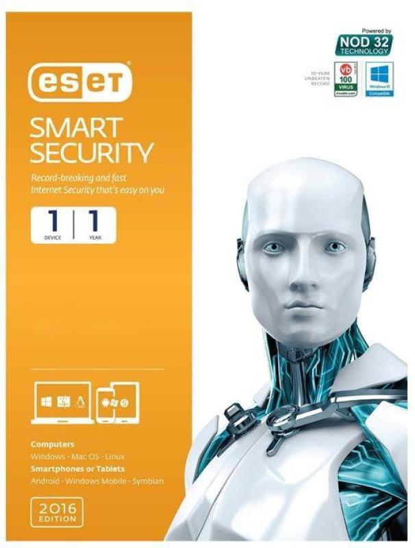 ESET Nod32 Smart Security 1pc 1 Year 2016 Edition.