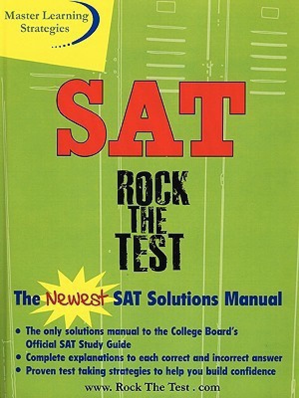 The New SAT Solutions Manual to the College Board's Official Study Guide(English, Paperback, Inc. Solutions, Strategic Concepts)
